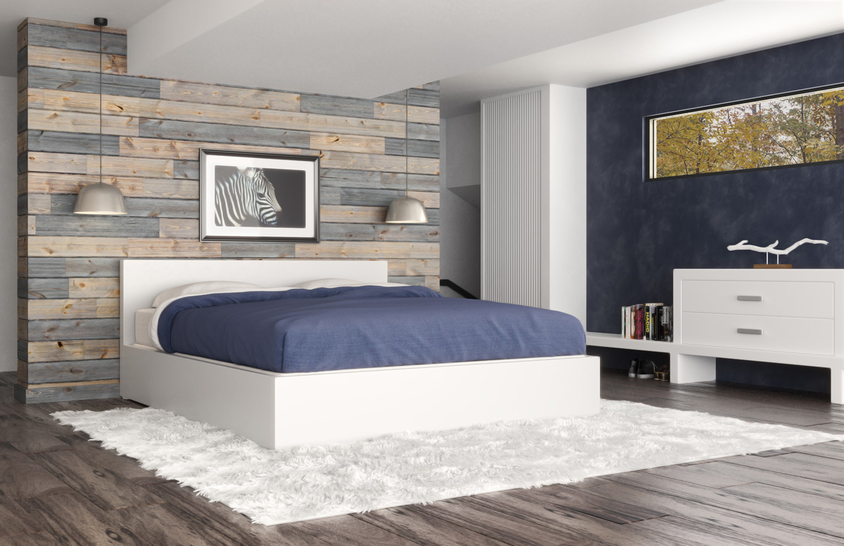 Accent Wall In Bedroom With Wood