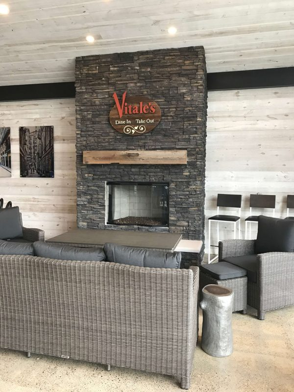 Modern and rustic fireplace [Easy Barnwood Collection from Great American Spaces]