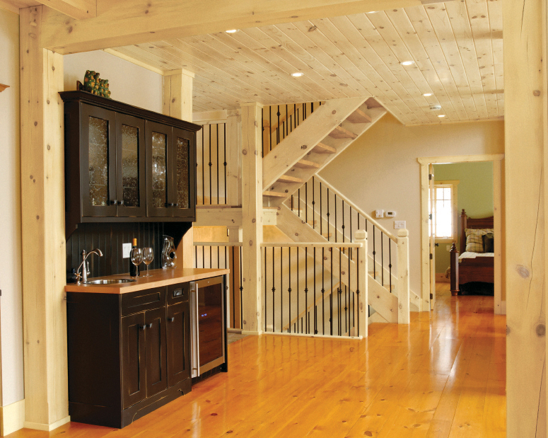 Classicpine collection great american spaces for Great american log homes