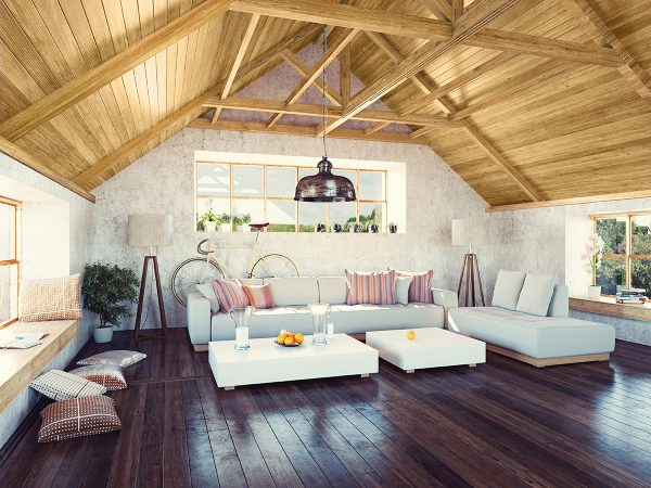 Rustic and Modern pine ceiling [ClassicPine Collection from Great American Spaces]