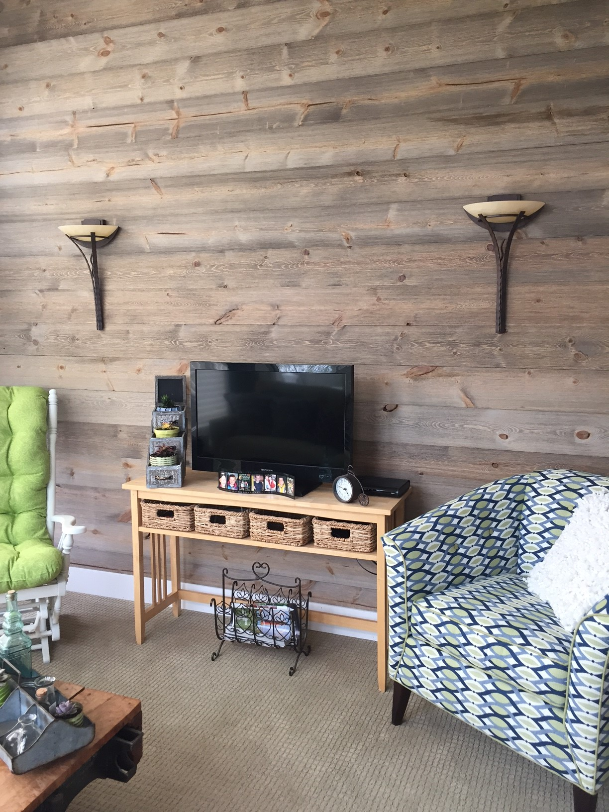 new p walls adds paneling in case barn x interior ft wood color gray for barns holey planks design trend wall decorative sq