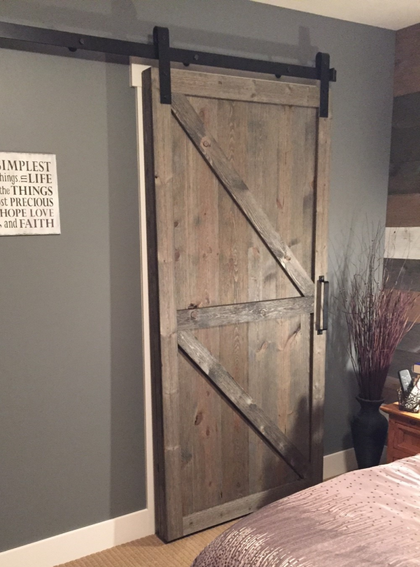 Barndoor made out of Easy BarnWood