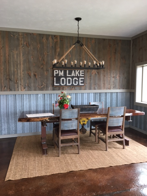 PM Lake Lodge using Great American Spaces' Easy BarnWood in Covered Bridge