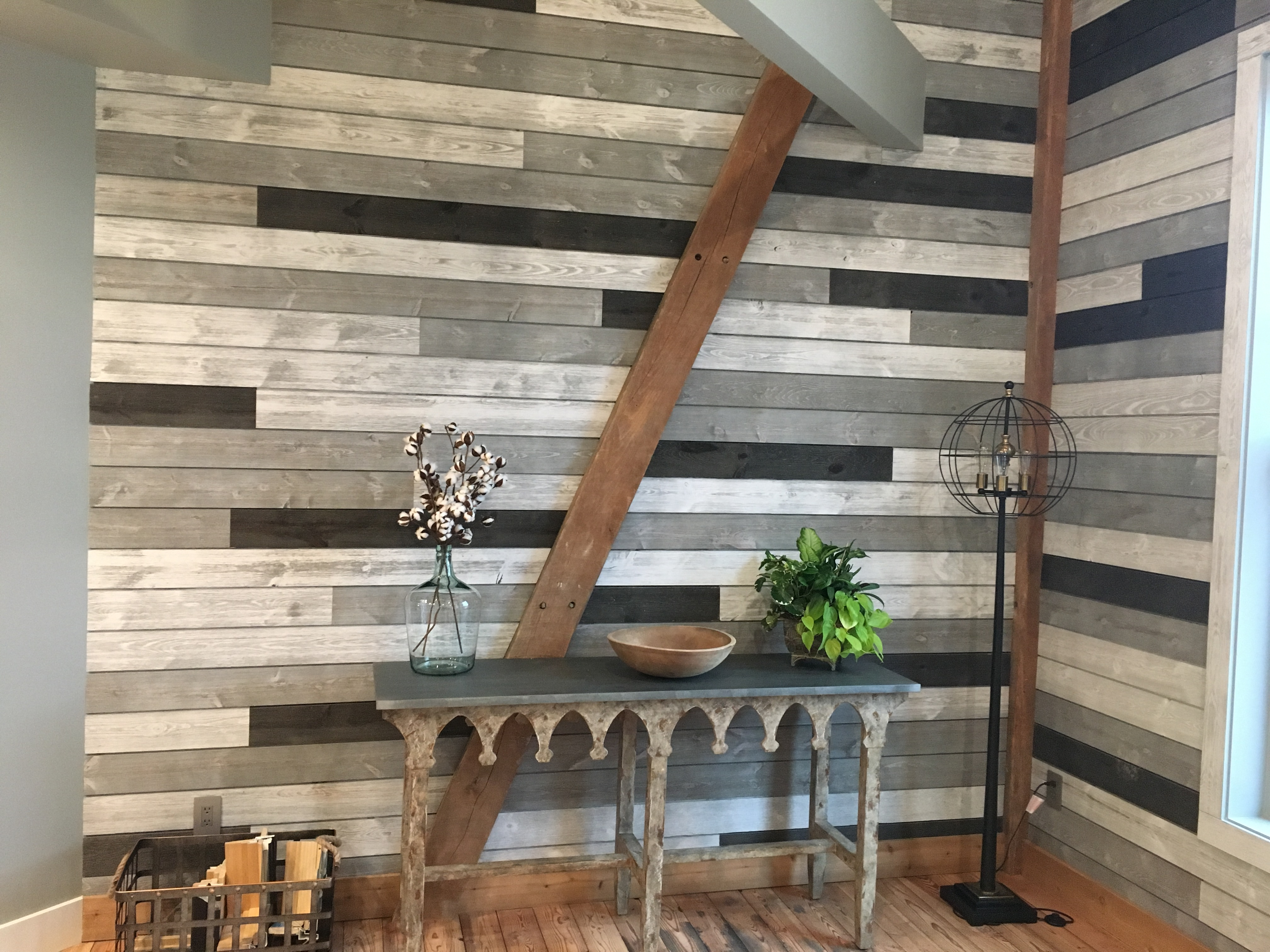 Shiplap Mix With Gray Sky Cloud And Charcoal